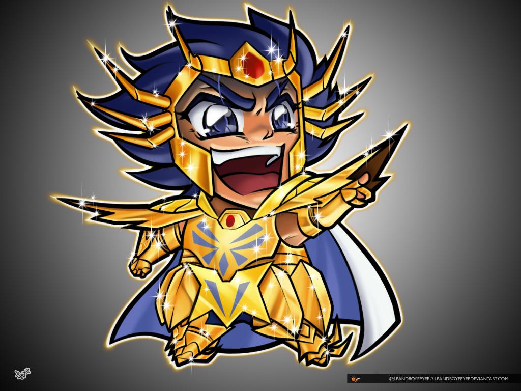 04 Saint Seiya Chibi Gold Saint Death Mask Cancer  by Leandroyepyep