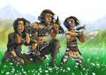 Final Fantasy xiv Family Au'ra Xaela 18b