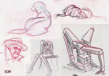 A few life drawing samples 1 by gkotm
