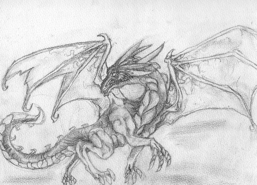 Dibujos A Lápiz De Dragones
