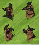 Headshot Expressions: Boat by FlannMoriath