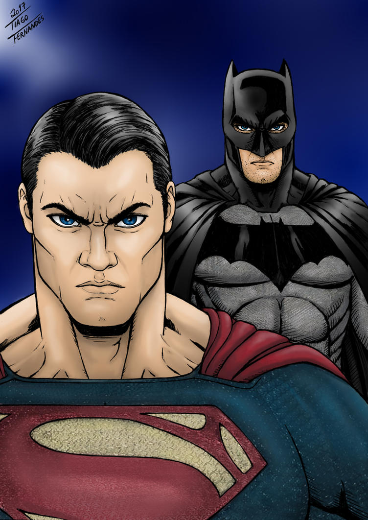 SUPERMAN and BATMAN - Color by TIAGO-FERNANDES