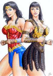 WONDER WOMAN and XENA in Auction Now at Ed Benes s