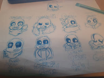 All Sans AUs by Rainbow3838838