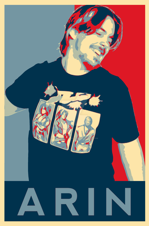 Game Grumps Arin Poster Obama Hope Poster By Commanderchrisyt On Deviantart