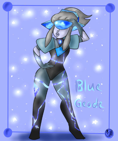 Blue Geode by Gem-Jewelz