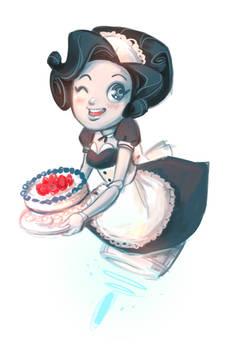 Robomaid gives you cake