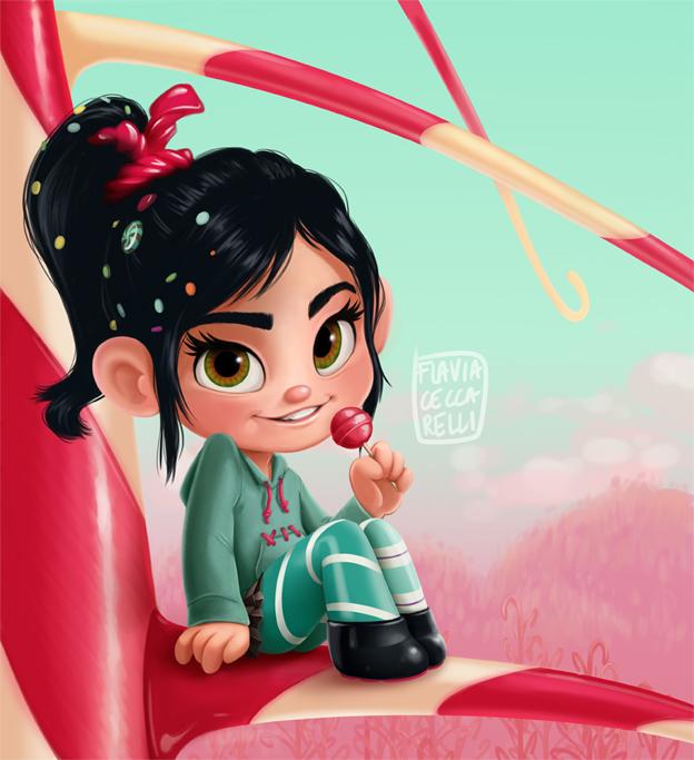 Vanellope Fan Art by NoA85