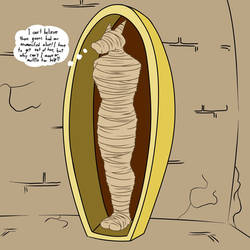 Eddy Mummified and on Display by BlackStarWolf100