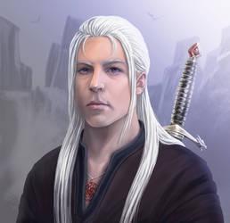 Rhaenar Targaryen (Portrait) by BlackStarWolf100