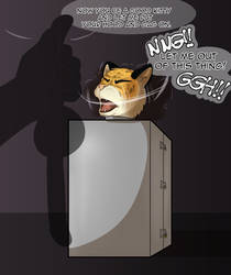 Mankee In His New Box: Part 1/2 by BlackStarWolf100