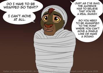 Valter Mummified Alive by BlackStarWolf100
