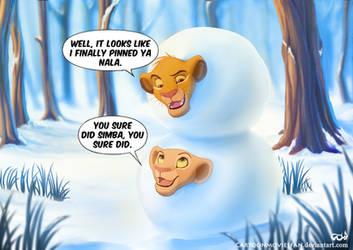 Simba and Nala: Snowball Cubs