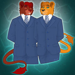 Zeb and Zed Dressed in Suits