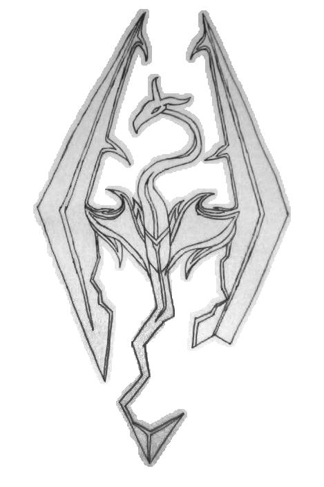 Skyrim Dragonborn Symbol Gallery Free Symbol Design Online