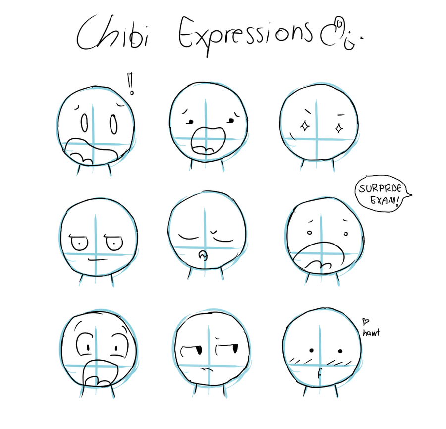 Chibi Expressions by Tawiie on DeviantArt