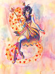 The Orange Queen (Vintage-ink1941 contest) by PrincessScissors