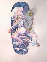 Marble Moths Mascot: Luna Mothballs traditional by PrincessScissors
