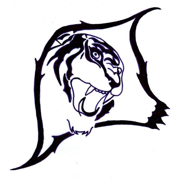 Tribal Tiger By Ruttan On Deviantart: Tiger Tribal Tattoo By Mesaswah On DeviantArt