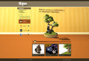 klaker design webpage by toromuco