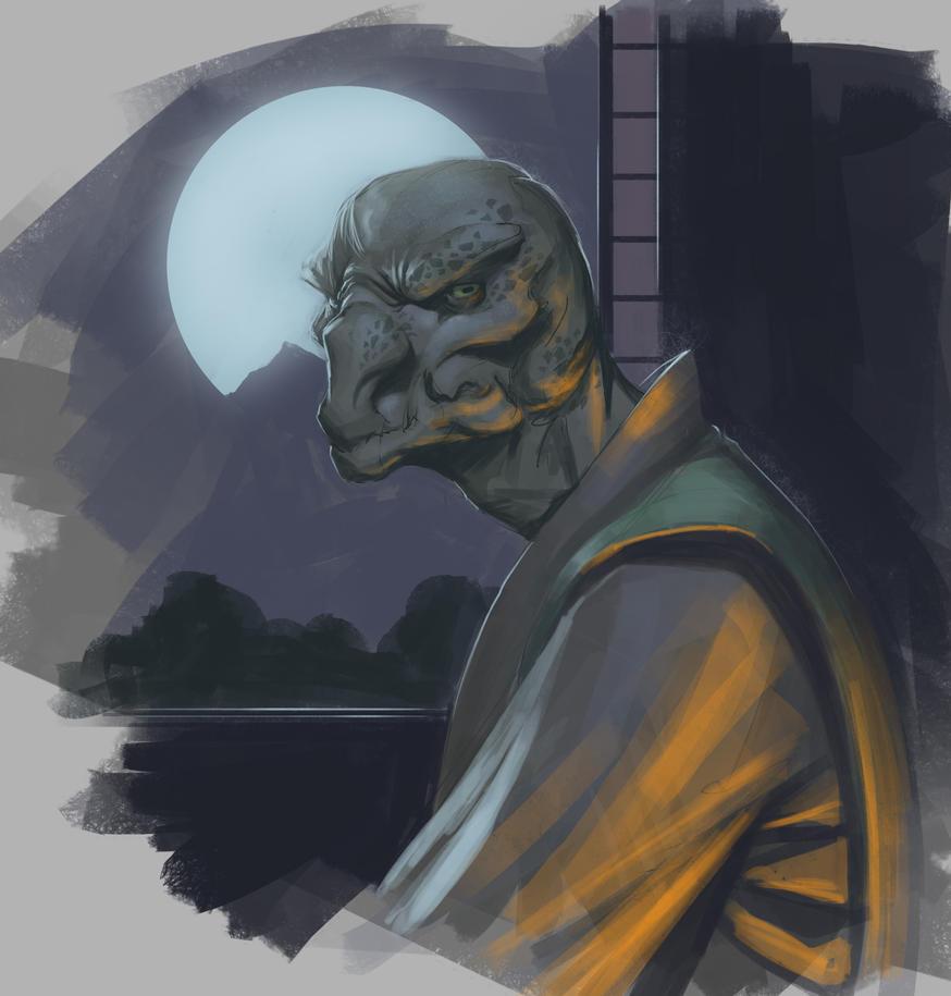 Mortal Kombat Reptile Moonlight by RenzZero