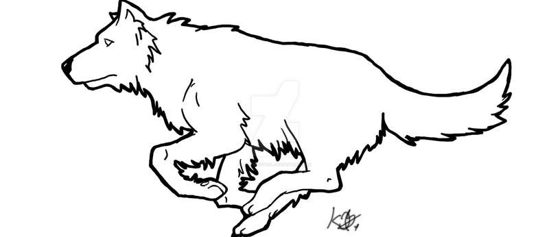 Running Wolf Tattoo By Blueminstral On Deviantart