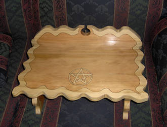 Scrolled and woodburned altar by 2amaltars