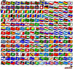 225 world flags