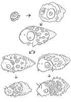 caddis fly larva pokemon by Lobsterprince