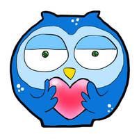 snowy owl love by Lobsterprince