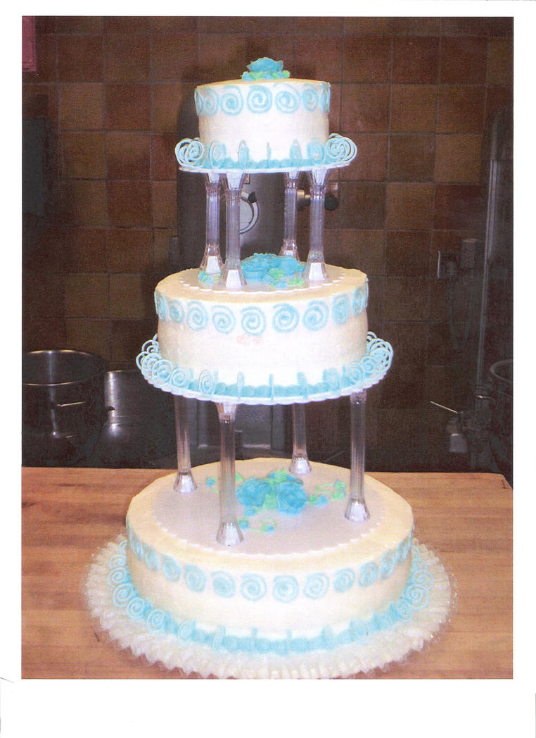 3 tier blue wedding cake 3 tier blue swirl wedding cake by your dresden doll on 10215