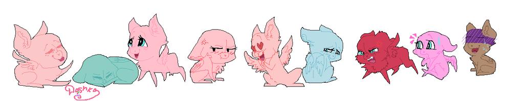 mlp base chibi characters Pegasus by DashkaTortik12222222