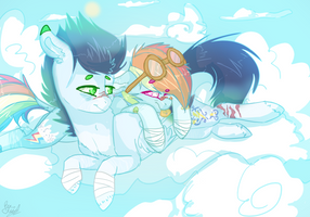 Mlp Rainbow Dash And Soarin by DashkaTortik12222222