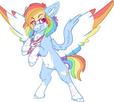 Mlp Rainbow Dash redesign by DashkaTortik12222222