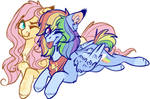 Mlp Rainbow dash and fluttershy