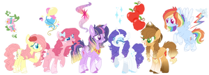 Mlp mane 6 by DashkaTortik12222222