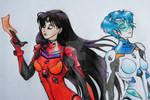 (1/2) Unit Mars and Mercury - Sailor Evangelion by aruberutokun