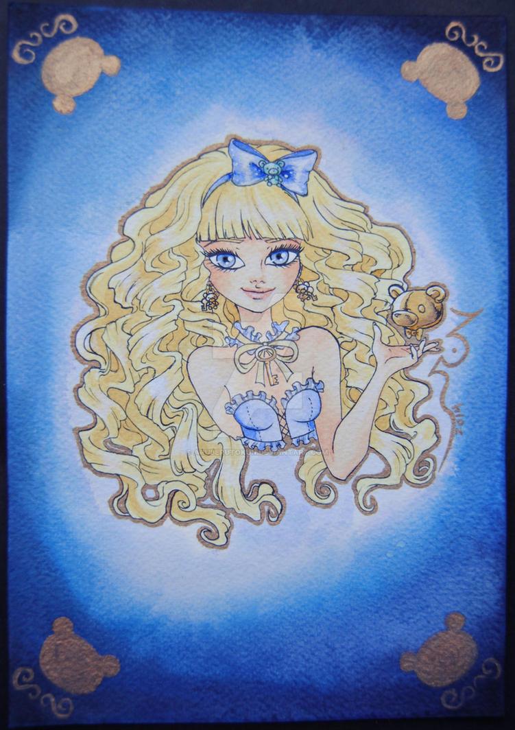 Blondie Lockes in blue velvet by aruberutokun