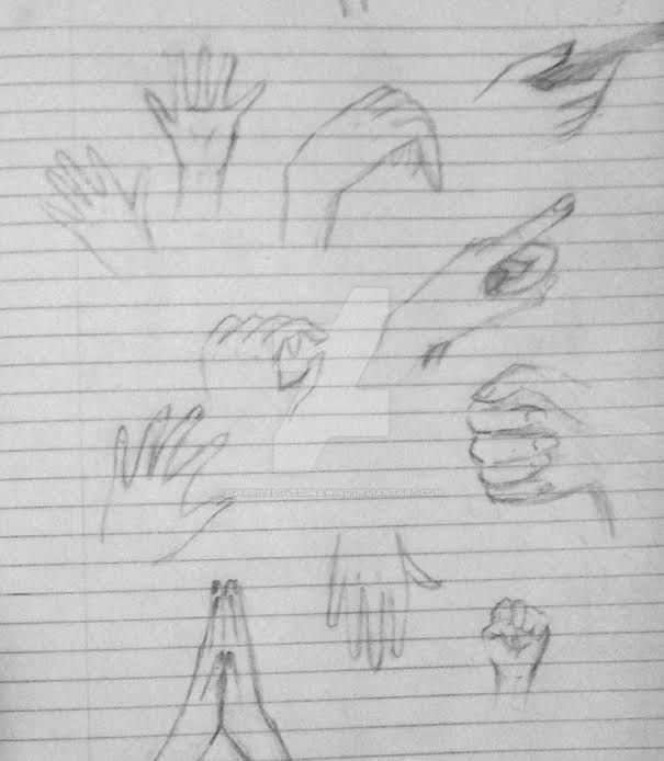 practice drawing hands by sharilelovesdrawing on deviantart