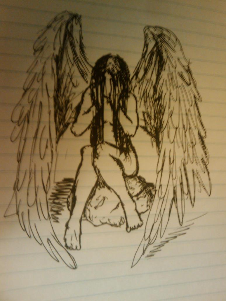depressed angel drawings - photo #27