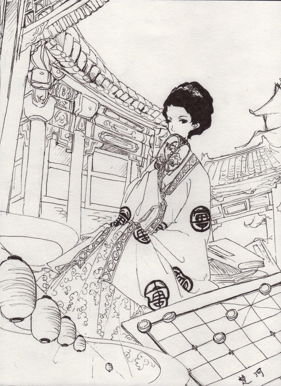 Pen sketch by Ayuanlv