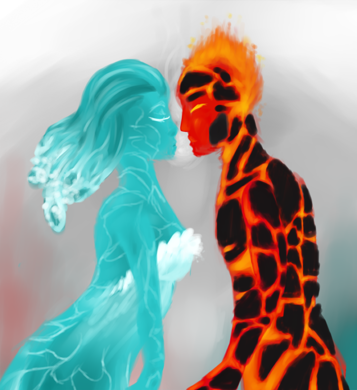 fire and ice heart - photo #21