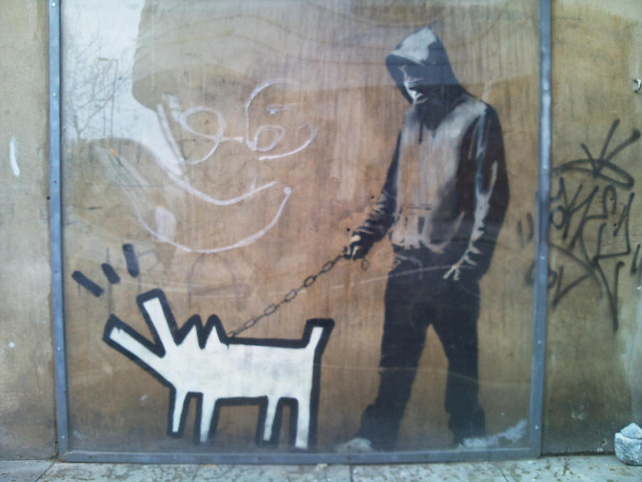Banksy by lillyclouds