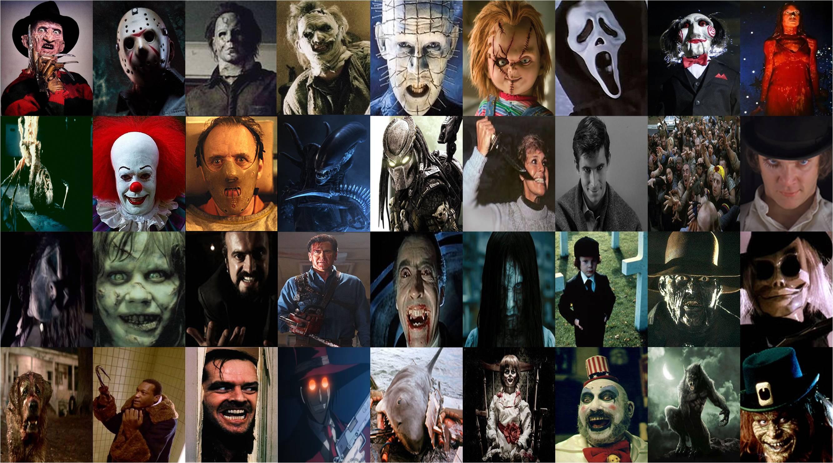 Halloween horror movie characters