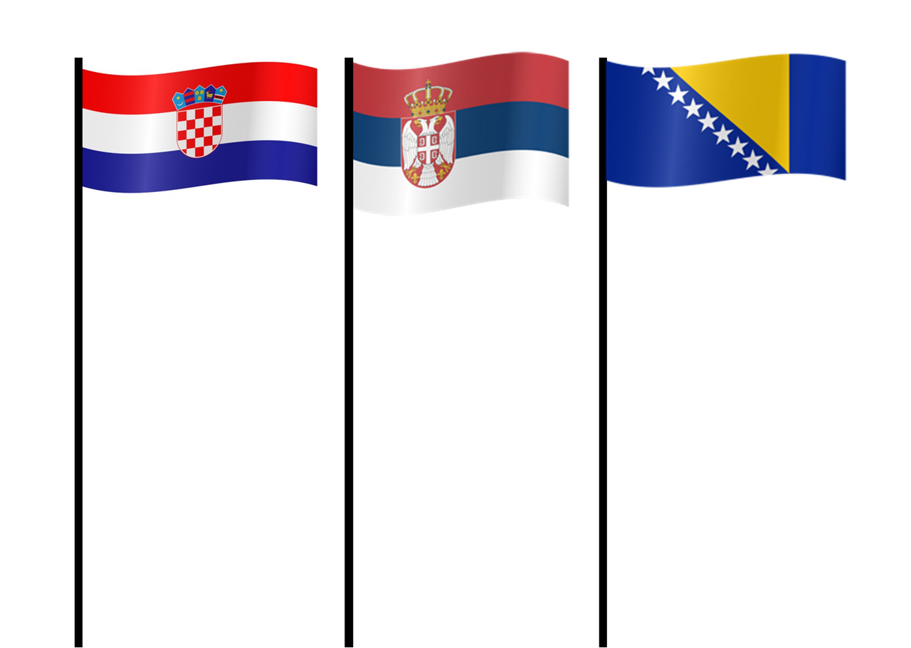 Flag of Serbia, Croatia And Bosnia and Herzegovina by xxphilipshow547xx on  DeviantArt