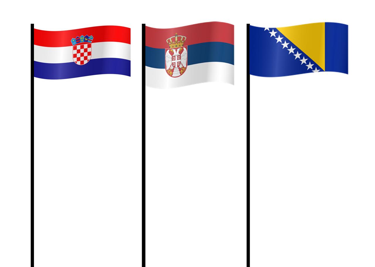 Flag of Serbia, Croatia And Bosnia and Herzegovina by xxphilipshow547xx on  DeviantArt