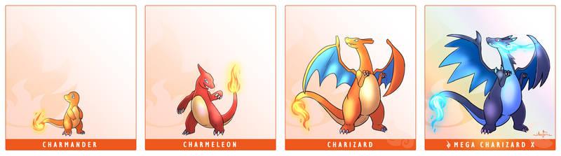 Pokemon Line #2 - Charmander Line