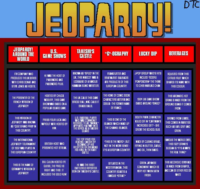 Jeopardy Grid