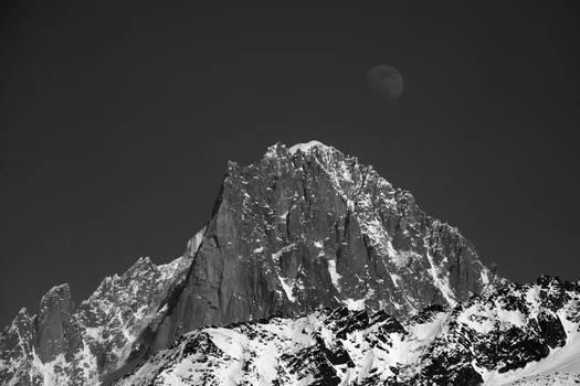 Moon Rise over Chamonix