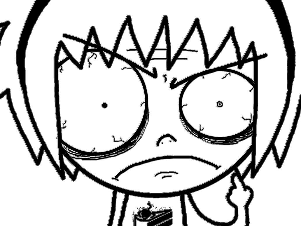 Angry girl. No! | Yi's blog |Mad Girl Face Drawing